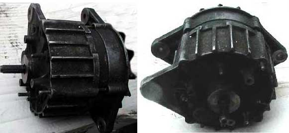 Alternátor Bosch používaný na motory 2,3 diesel (vákuová pumpa je zložená)